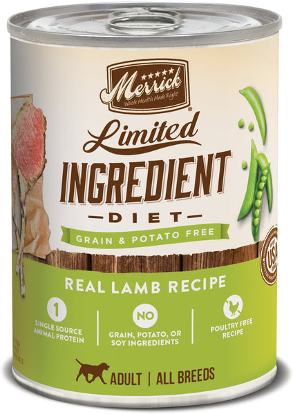 Merrick - Grain-Free Limited Ingredient Diet Real Lamb Recipe (Wet Dog Food)