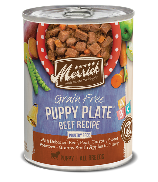 Merrick Grain-Free Puppy Plate Beef (Wet Dog Food)