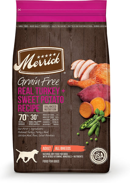 Merrick Grain-Free Real Turkey + Sweet Potato Recipe
