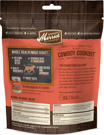 Merrick - Kitchen Bites - Cowboy Cookout - Grain-Free Treat for Adult Dogs