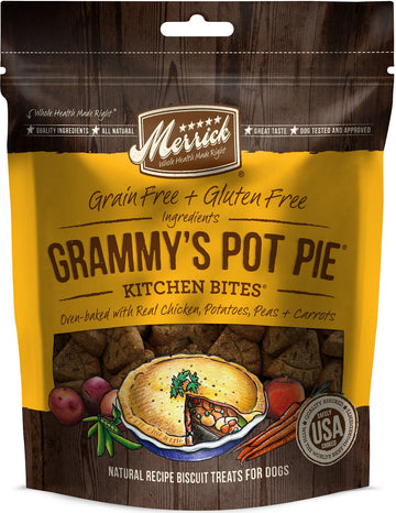 Merrick - Kitchen Bites - Grammy's Pot Pie - Grain-Free Treat for Adult Dogs