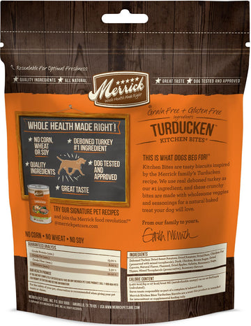 Merrick - Kitchen Bites - Turducken - Grain-Free Treat for Adult Dogs