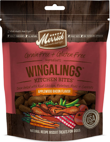 Merrick - Kitchen Bites - Wingalings Applewood Bacon - Grain-Free Treat for Adult Dogs