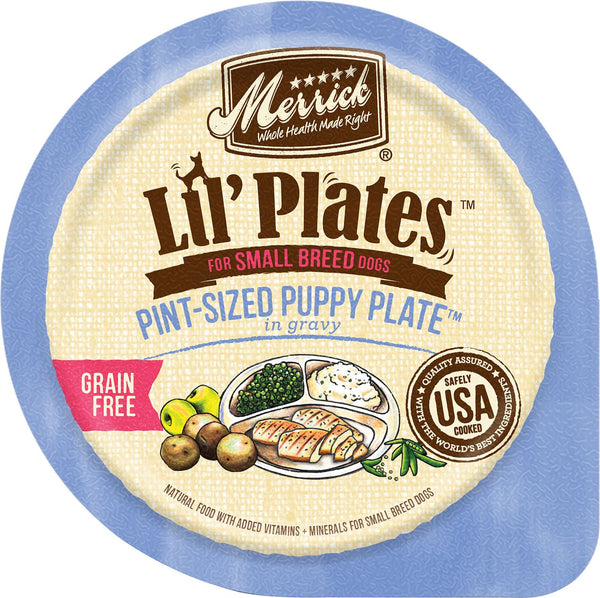 Merrick Lil' Plates Grain Free Pint-Sized Puppy Plate in Gravy (Wet Dog Food)