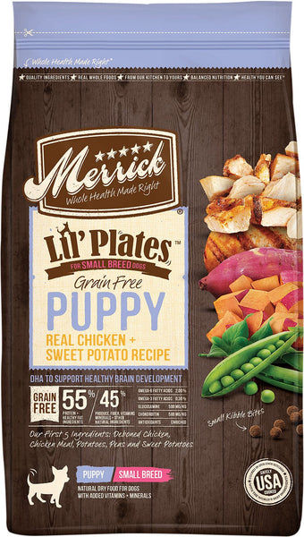 Merrick Lil' Plates Grain Free Puppy Real Chicken + Sweet Potato Recipe (Dry Puppy Food)