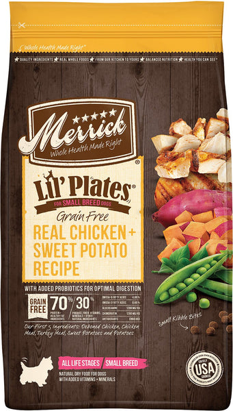 Merrick Lil' Plates Grain Free Real Chicken + Sweet Potato Recipe (Dry Dog Food)
