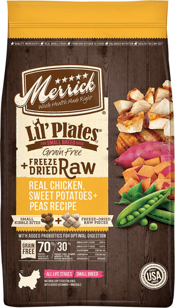 Merrick - Lil' Plates Grain Free Real Chicken + Sweet Potato with Raw Bites Recipe (Dry Dog Food)