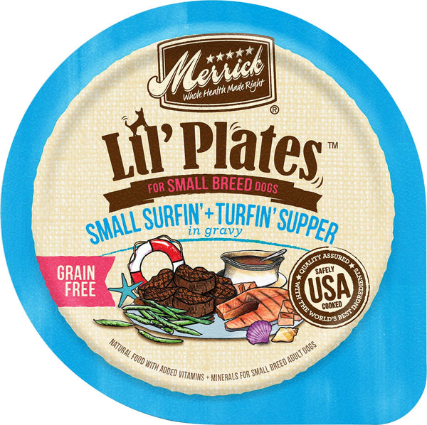Merrick Lil' Plates Grain Free Small Surin' + Turfin' Supper in Gravy (Wet Dog Food)