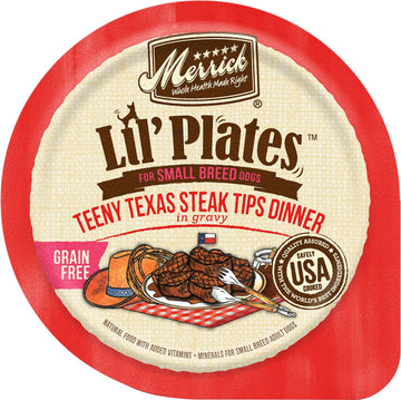 Merrick - Lil' Plates Grain Free Teeny Texas Steak Tips Dinner in Gravy (Wet Dog Food)