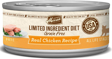 Merrick - Limited Ingredient Diet Real Chicken Recipe Paté (Grain Free Adult Wet Cat Food)