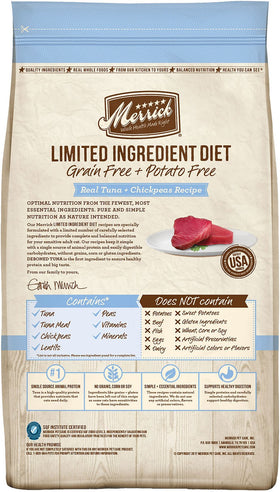 Merrick - Limited Ingredient Diet Real Tuna & Chickpeas Recipe (Grain Free Dry Adult Cat Food)