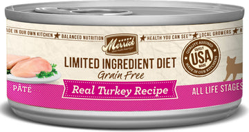 Merrick - Limited Ingredient Diet Real Turkey Recipe Paté (Grain Free Adult Wet Cat Food)