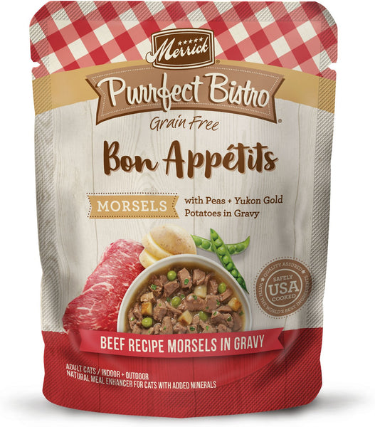 Merrick - Purrfect Bistro Bon Appétits Beef Recipe Morsels in Gravy (Grain Free Adult Wet Cat Food)