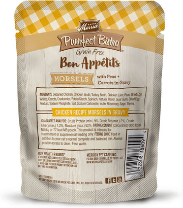 Merrick - Purrfect Bistro Bon Appétits Chicken Recipe Morsels in Gravy (Grain Free Adult Wet Cat Food)