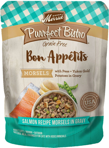 Merrick - Purrfect Bistro Bon Appétits Salmon Recipe Morsels in Gravy (Grain Free Adult Wet Cat Food)
