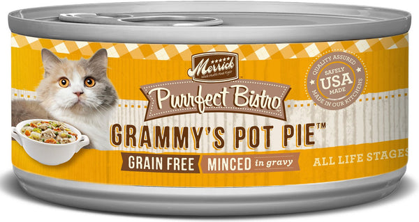 Merrick - Purrfect Bistro Grain Free Minced Grammy's Pot Pie (Canned Cat Food)