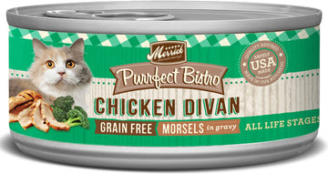Merrick - Purrfect Bistro Grain Free Morsels Chicken Divan (Canned Cat Food)