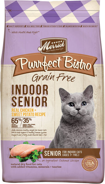 Merrick - Purrfect Bistro Indoor Senior Recipe (Grain Free Dry Cat Food)