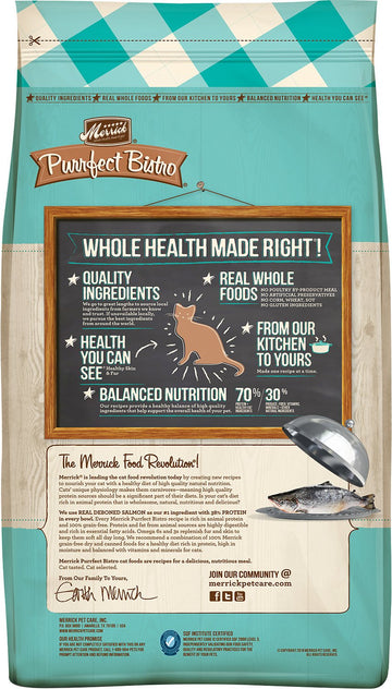 Merrick - Purrfect Bistro Real Salmon & Sweet Potato Recipe (Grain Free Adult Dry Cat Food)