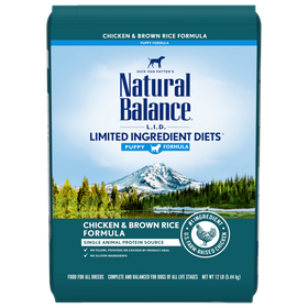 Natural Balance - Limited Ingredient - Chicken & Brown Rice (Dry Puppy Food)