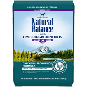Natural Balance - Limited Ingredient - Chicken & Brown Rice for Large Breed (Dry Dog Food)
