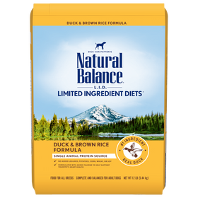 Natural Balance - Limited Ingredient - Duck & Brown Rice (Dry Dog Food)