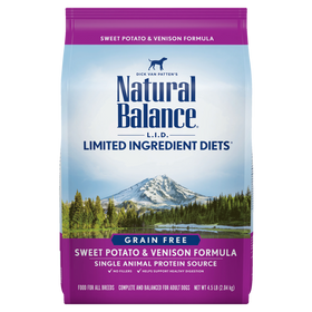 Natural Balance - Limited Ingredient - Grain Free Sweet Potato & Venison (Dry Dog Food)