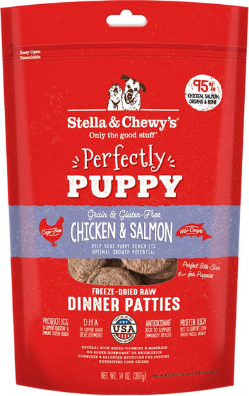 Stella & Chewy's - Perfectly Puppy Chicken & Salmon Dinner Patties Freeze-Dried Raw Dog Food (Puppy)