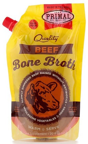 Primal - Bone Broth - Beef (For Dogs and Cats) - Frozen Product