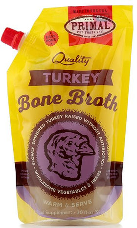 Primal - Bone Broth - Turkey (For Dogs and Cats) - Frozen Product