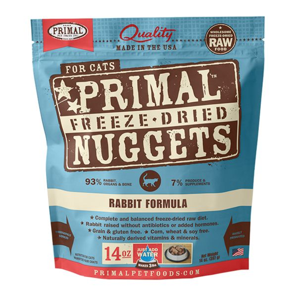 Primal - Freeze Dried Nuggets - Rabbit Formula (Cat Food)