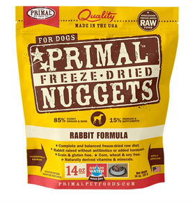 Primal - Freeze Dried Nuggets - Rabbit Formula (Dog Food)