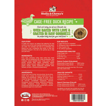 Stella & Chewy's -  Cage-Free Duck Raw Coated Biscuits (Dog Treats)