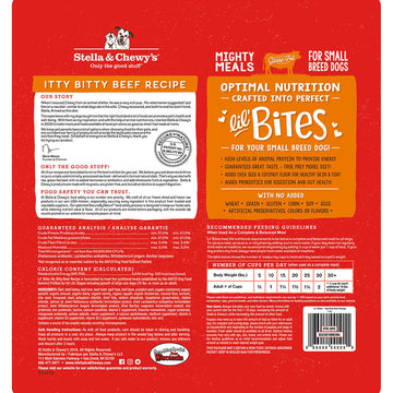 Stella & Chewy's -  Lil' Bites Itty Bitty Beef Recipe Small Breed Freeze-Dried Raw Dog Food