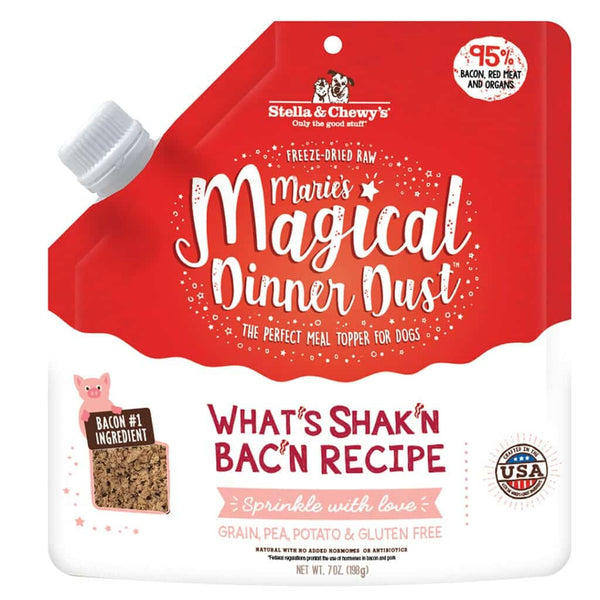Stella & Chewy's -  Marie's Magical Dinner Dust What's Shak'N Bac'N Food Topper (For Dogs)