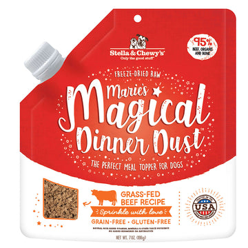 Stella & Chewy's -  Marie's Magical Dinner Freeze-Dried Raw Dust Grass-Fed Beef Dog Food Topper