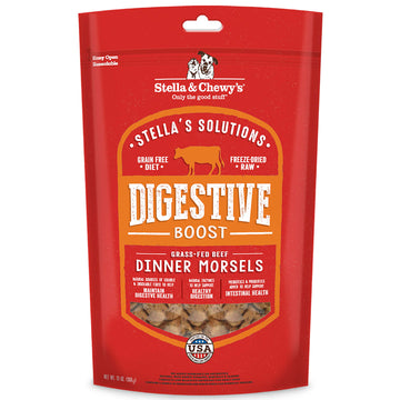 Stella & Chewy's -  Stella's Solutions Digestive Boost Freeze-Dried Raw Grass-Fed Beef Dinner Morsels (Adult Dogs)
