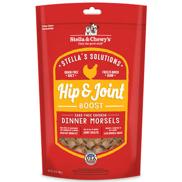 Stella & Chewy's -  Stella's Solutions Hip & Joint Boost Freeze-Dried Raw Cage-Free Chicken Dinner Morsels (Adult Dogs)