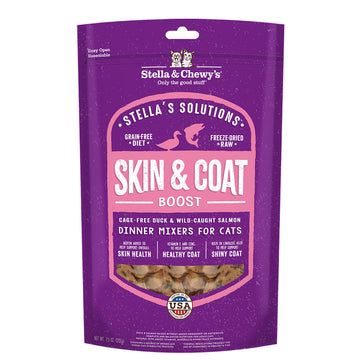 Stella & Chewy's - Stella's Solutions Skin & Coat Duck & Salmon Freeze-Dried Raw (Cat Food)