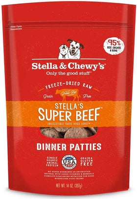 Stella & Chewy's - Stella's Super Beef Dinner Patties Freeze-Dried Raw Dog Food