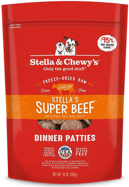 Stella & Chewy's - Stella's Super Beef Dinner Patties Freeze-Dried Raw Dog Food - ARMOR THE POOCH™