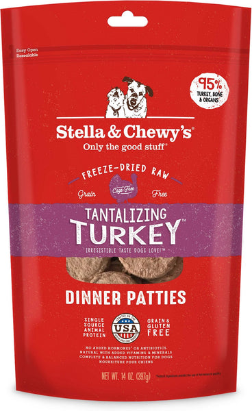Stella & Chewy's - Tantalizing Turkey Dinner Patties Freeze-Dried Raw Dog Food - ARMOR THE POOCH