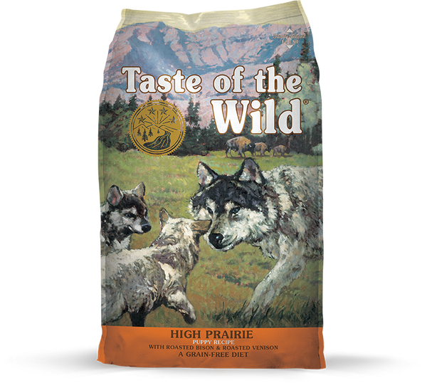 Taste of the Wild - High Prairie Puppy with Roasted Bison & Venison (Dry Grain-Free Dog Food) - ARMOR THE POOCH