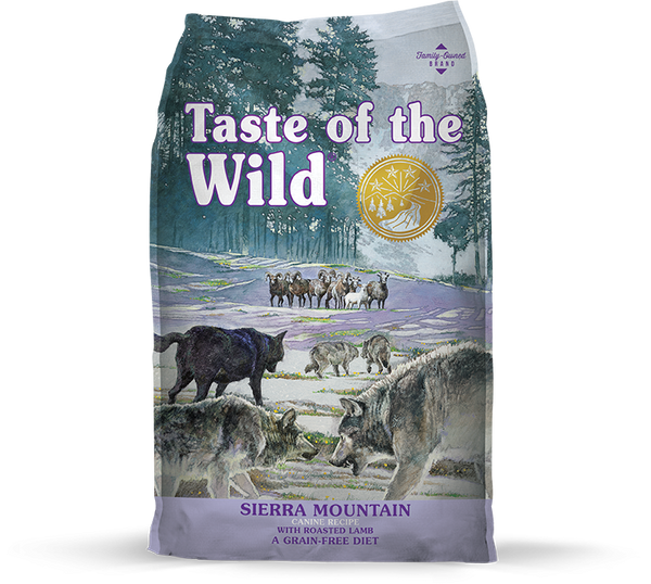 Taste of the Wild - Sierra Mountain with Roasted Lamb (Dry Grain-Free Dog Food) - ARMOR THE POOCH