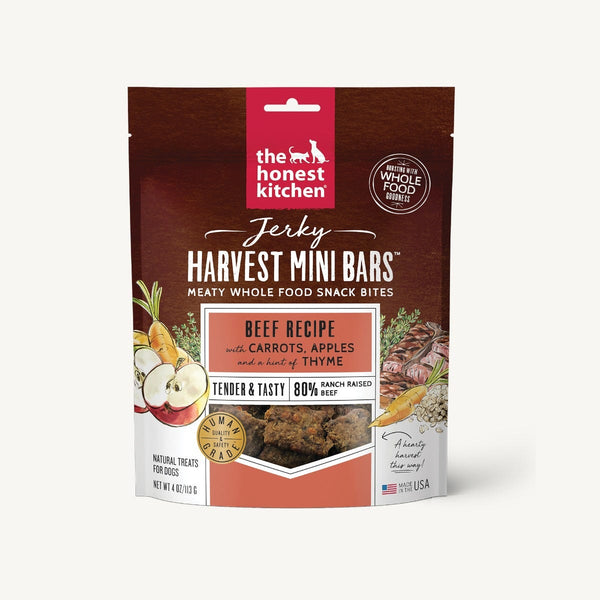 The Honest Kitchen - Jerky Harvest Mini Bars - Beef Recipe with Carrots & Apples