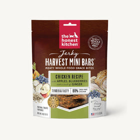 The Honest Kitchen - Jerky Harvest Mini Bars - Chicken Recipe with Apples & Blueberries