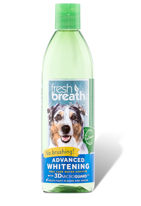 TropiClean - Fresh Breath - Dental Health Solution Plus Advanced Whitening (Water Additive For Dogs)
