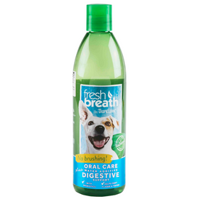 TropiClean - Fresh Breath - Dental Health Solution Plus Digestive Support (Water Additive For Dogs)