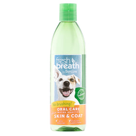 TropiClean - Fresh Breath - Dental Health Solution Support Skin & Coat (Water Additive For Dogs)