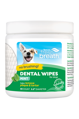 TropiClean - Fresh Breath - Dental Wipes (For Dogs)